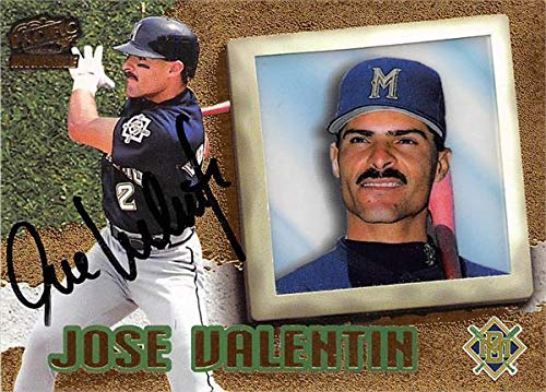 Cards Baseball Valentin - Jose Valentin autographed baseball card (Milwaukee Brewers) 1998 Pacific Invincible #43 - MLB Autographed Baseball Cards
