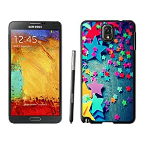 NEW DIY Unique Designed Samsung Galaxy Note 3 Phone Case For Colorful Plastic Stars Phone Case Cover