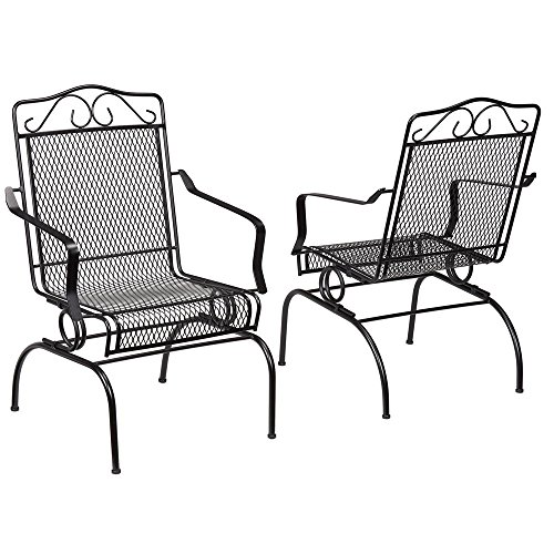 Nantucket Rocking Metal Outdoor Dining Chair 2-Pack