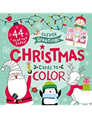 Christmas Cards to Color: 44 Tear Out Cards!