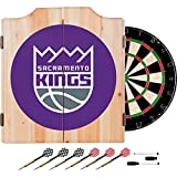 NBA Sacramento Kings Wood Dart Cabinet Set