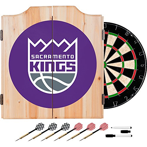 NBA Sacramento Kings Wood Dart Cabinet Set by Trademark Games