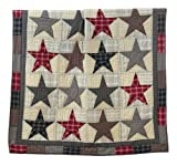 America Throw Patriotic Americana Country Patchwork Star Quilt