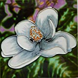 Tile Craft flower ceramic art tile 6 x 6 inches with easel back