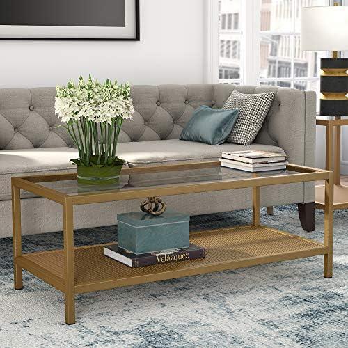 Henn Hart Rectangular Brass coffee table