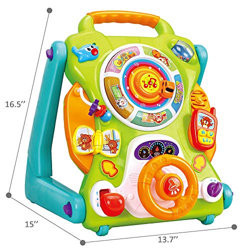 iPlay, iLearn Baby Sit to Stand Walkers Toys, Kids Activity Center, Toddlers Musical Fun Table, Lights 'n Sounds, Learning, Birthday Gift for 6, 9, 12, 18 Month, 1, 2 Year Olds, Infants, Boys, Girls by iPlay, iLearn (Image #6)