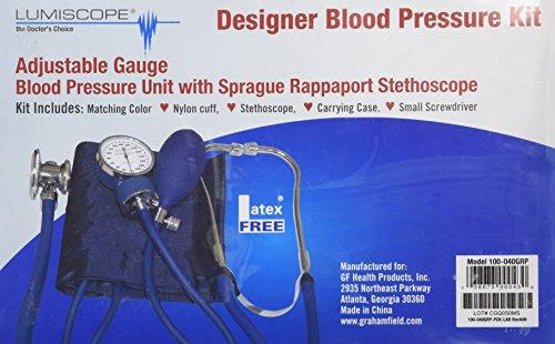 Lumiscope Purple Blood Pressure and Stethoscope Kit