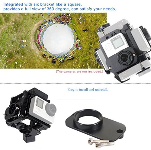 GOWE 360/720 Degree VR Full Shot Aerial FPV Panorama Panoramic Imaging Photography Video Recorder Capture Square Bracket Cage by Gowe (Image #4)