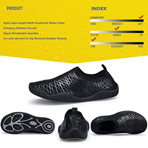 Men Lightweight Shoes Water SIKELO Black Womens Dry Sports Quick and 5TBWZBa