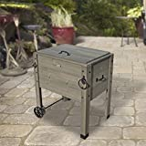Backyard Discovery Outdoor Patio Cooler Stand, Barnstain