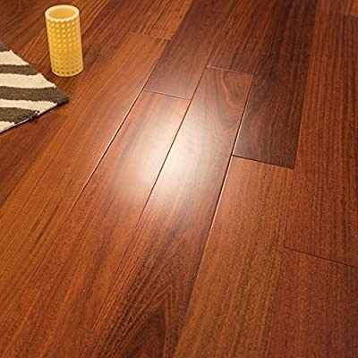 "5"" x 1/2 Santos Mahogany Prefinished Engineered Wood Flooring, 1 Box, by Hurst Hardwoods"