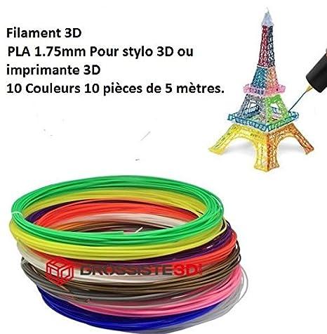 Surtido 10 x 5 métres/pcs hilos filamento pla 1.75 mm para ...
