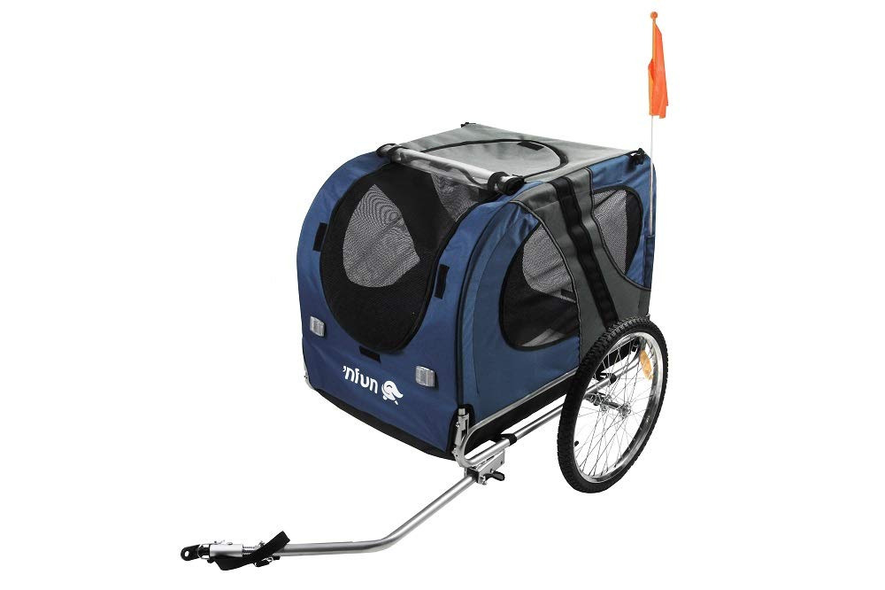 NFUN Bicycle Dog Trailer bluee Grey