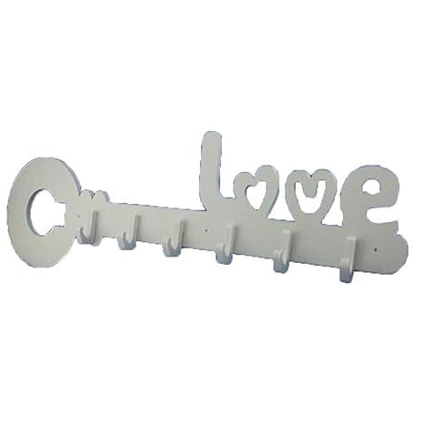 Amazon.com: Tingting - Perchero de pared con forma de letra ...