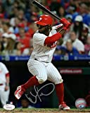 Odubel Herrera Philadelphia Phillies At Bat Signed 8 x 10 Photo JSA 136495