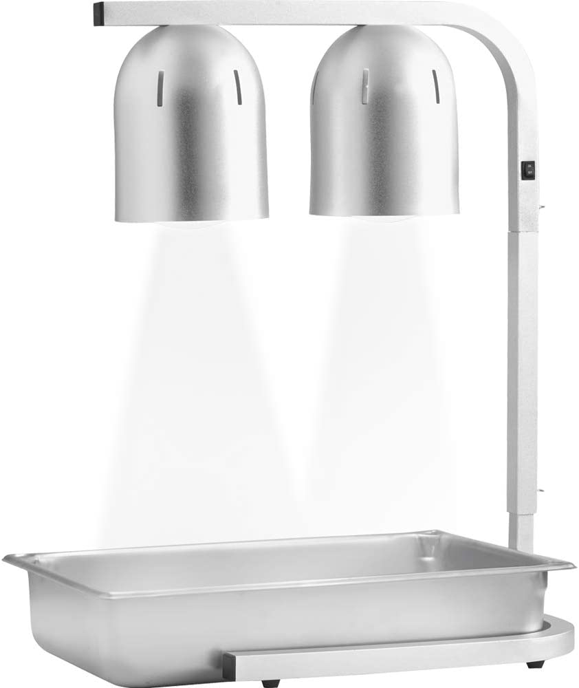 Amazon Com Chef Master 90050 Professional Freestanding Heat Lamp Food Warmer Large 12 X 20 2 Bulb Silver Kitchen Dining