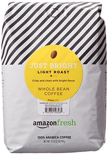 AmazonFresh Just Bright Whole Bean Coffee, Light Roast, 32 ()
