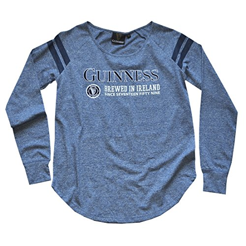 Navy Ladies Guinness Long Sleeve T-Shirt With Brewed in Ireland Since Seventeen Fifty Nine - Tee Guinness Ladies