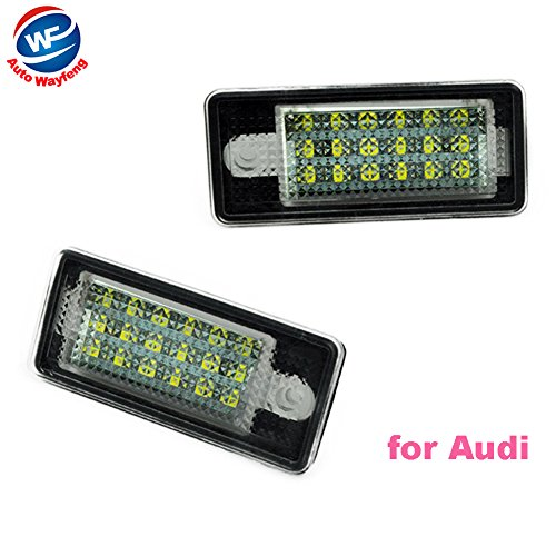 Auto Wayfeng WF 18 LED 6000K License Number Plate Light Lamp For Audi A3 S3 A4 S4 B6 B7 A6 S6 A8 Q7 NO Canbus Error