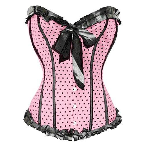 Valin FOB5205 Mujer Rosa Lencería y ropa interior Corsés y bustiers,L