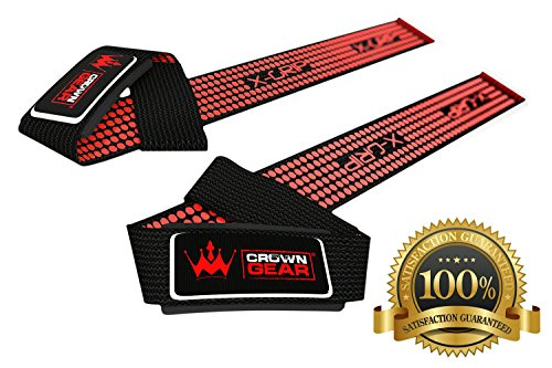Neoprene Padded Weight Lifting Straps - Hand Crafted for Wrist Comfort & Lifting Power - Best Cotton Weightlifting Strap to Enhance Grips - for Pro Bodybuilding DeadLifting & Other Workouts