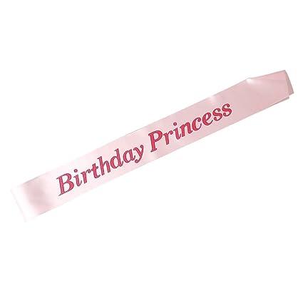 letti E mobili Banda de Cumpleaños Princesa Satin Sash Girls ...