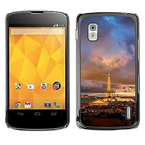 Hot Style Cell Phone PC Hard Case Cover // M00102463 nature in romantic paris night // LG Nexus 4