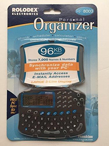 Rolodex Electronics Personal Organizer RF-8003 96KB Memory