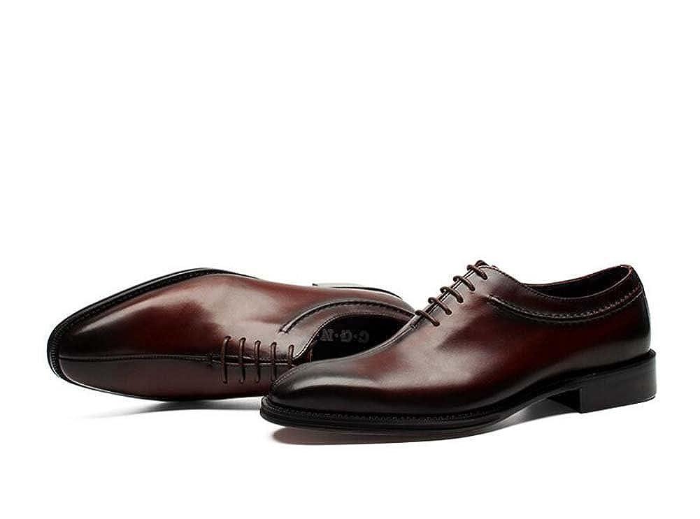 Zapatos de Vestir para Hombres Zapatos de Negocios con Cordones Zapatos de Novia Zapatos de Moda Atmósfera de Primavera y Verano Nuevo (Color : Marrón, Tamaño : 38) -