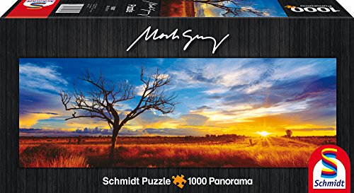 SCHMIDT Dessert Oak at Sunset by Mark Gray Panoramic Puzzle (1000-Piece)