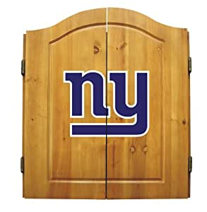New York Giants NFL Complete Dart Board Cabinet Set