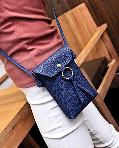 JD Million shop PU Leather Tassel Phone Bag Vintage Shoulder Bags Crossbody Bags For Women Mini Messenger Bag Casual Gifts (Yves Saint Laurent Vintage Tie)
