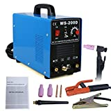Super Deal TIG DC Inverter ARC MMA Welder Welding Machine 110V&220V 200 Amp Single Phase, Blue (400w)