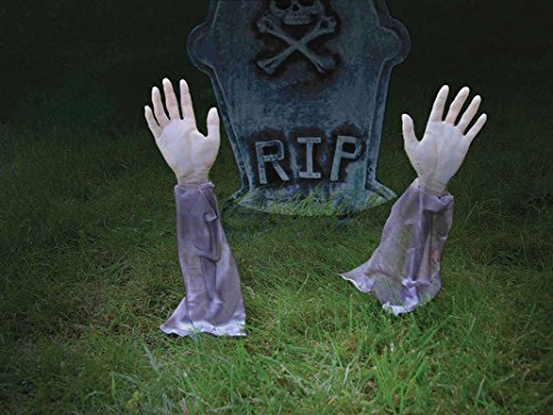 Bristol Novelty HI261 Zombie 2 Arms Lawn Stakes,