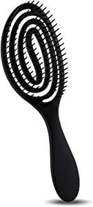 BLACK EGG Vented Flex Detangling Hair Brush Quick Dry Brush...