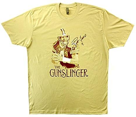 buy online adef0 44f5c Amazon.com: Brett Favre Green Bay Packers Tan Short Sleeve T ...