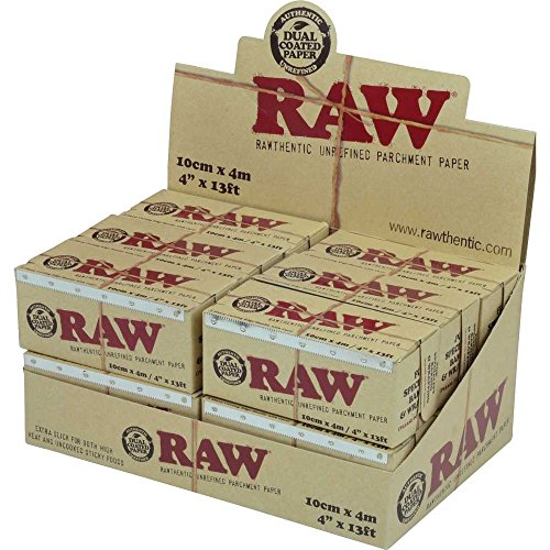 #RP266 12pc Display - Raw® I4kLgX Rawthentic RBjmW Unrefined Parchment Paper Rolls smoking smoke pipe glass tobacco fire yrygvtir tigr kohsfa Raw® Parchment Paper is the first unrefined extra slick dual-coated parchment paper ever made. SNxK2 It is natural and 100% unbleached. Made for speciality baking and wrapping. Paper roll GsC7r2Lv measures 4