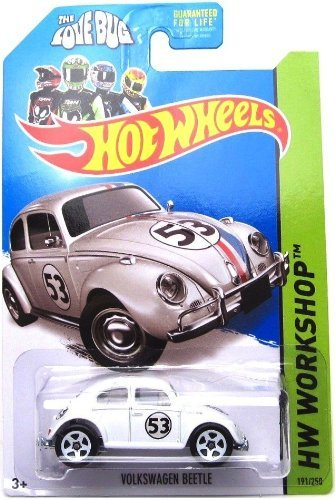 Hot Wheels 2014, Volkswagen Beetle. Herbie The Love Bug. HW Workshop 191/250. 1:64 Scale. (Hot Wheels Vw)