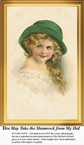 You May Take the Shamrock from my Hat, Irish Counted Cross Stitch Pattern (Pattern Only, You Provide the Floss and Fabric)
