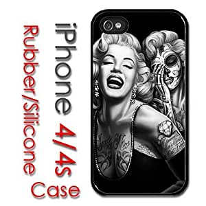 iPhone 4 4S Rubber Silicone Case - Marilyn Monroe Beautiful Portrait Painting