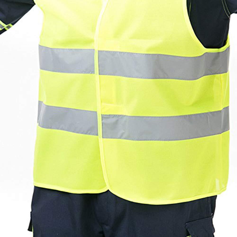 Westeng Warnweste Sicherheitsweste Fluoreszierende Weste Sicherheitsweste Geeignet f/ür Radsport-Jogging-Verkehrspolizeii