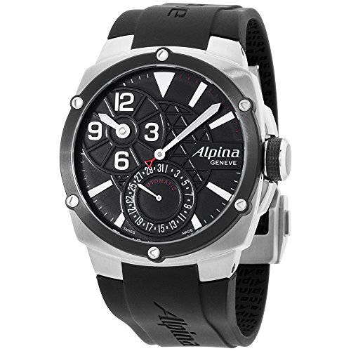 Alpina Regulator Black Dial Silicone Strap Men's Watch AL950LBB4AE6
