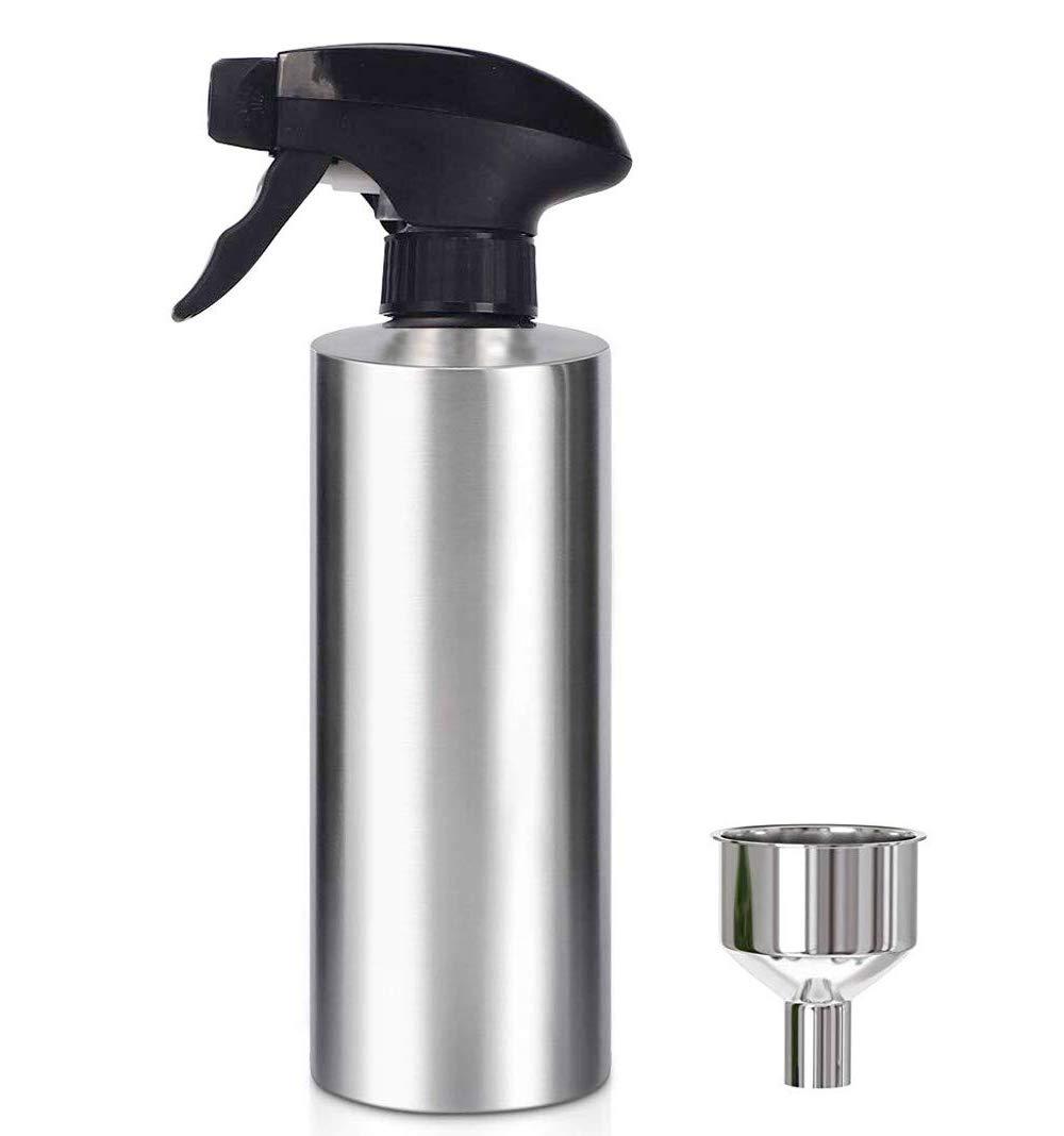 HOMY Oil Sprayer Bottle, Food Grade SUS304 Stainless Steel, Mister Oil Dispenser Bottle for Kitchen Cooking, Salad Oil Dressing, Bread Baking, BBQ, Grilling, Roasting and Frying by HOMY