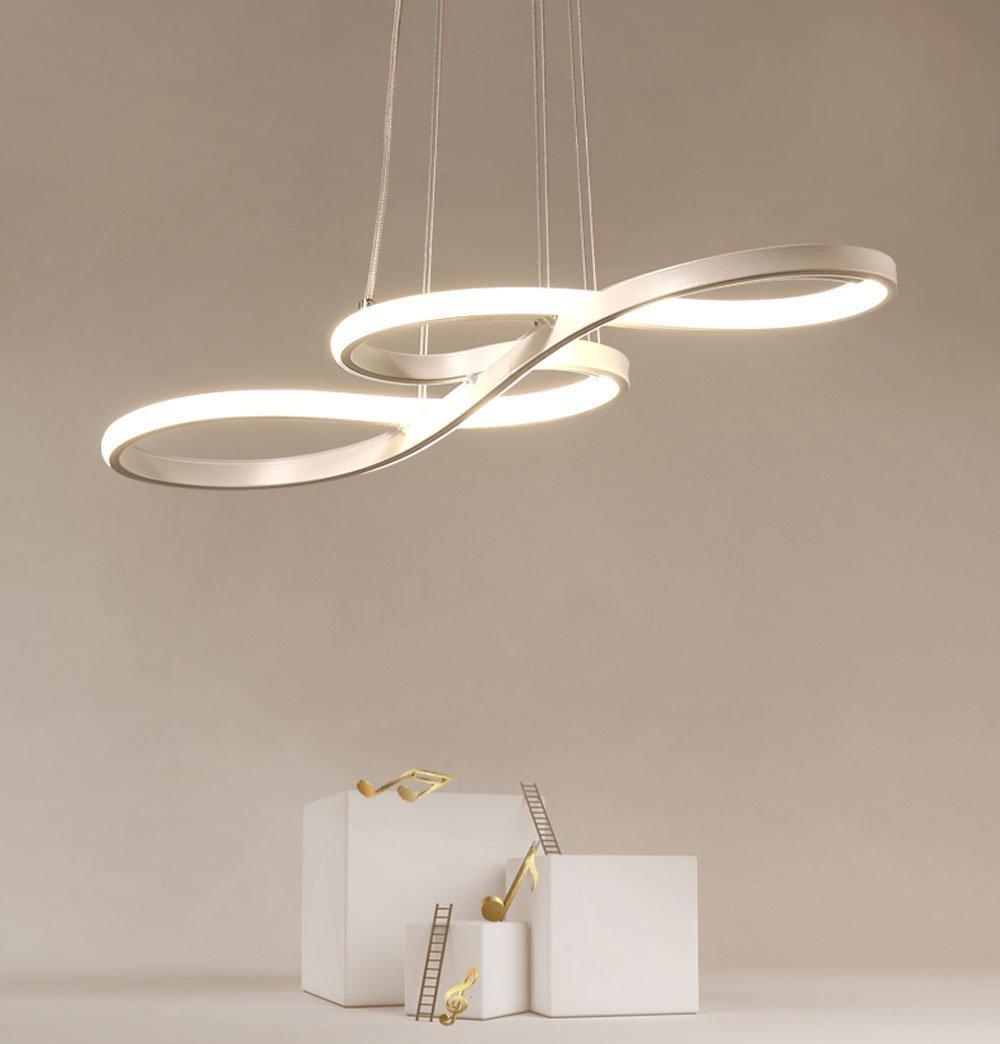 Lámpara Colgante LED, ZMH Luz de Techo Iluminación Pendiente Araña 38W Luz y Altura Adjustable (3500-6500k) con Control Remoto de Silicona y Alumnio para ...