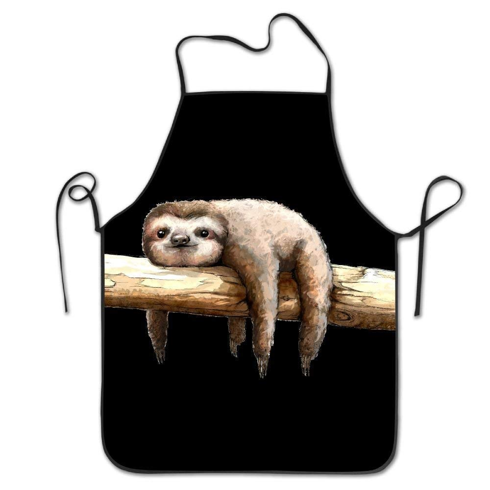 apnzll Sloth Sewing Apron Personalized Aprons Chef Aprons Work Aprons 100% Polyester Aprons
