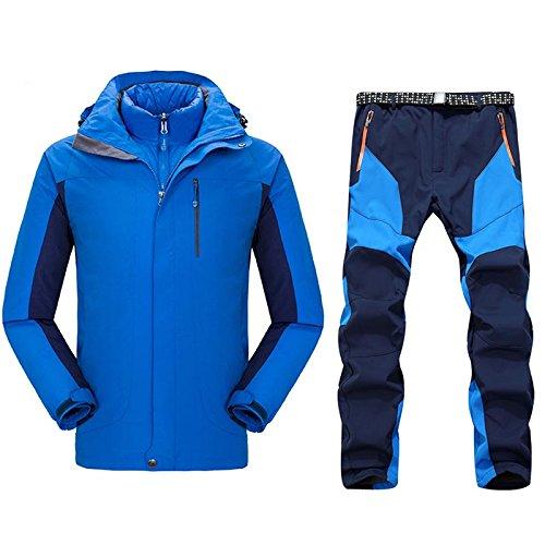 E J Set Di Caldo Yff Da Camping Uomo Giacca Sci P Blue Impermeabile Tuta Pantalone Maschio Abbigliamento Escursioni Esterno Leit SURwZqR8