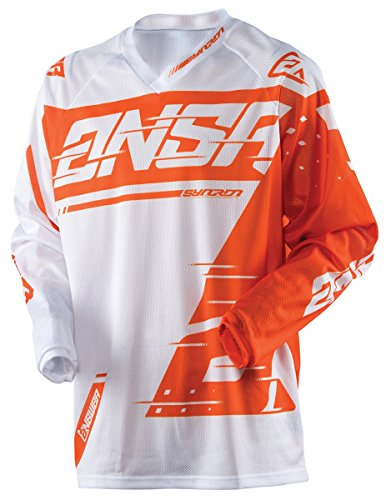 (Answer Racing A18 Syncron Air Youth Boys Off-Road Motorcycle Jerseys - White/Orange / Small)
