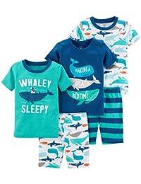 Boys 5-Piece Cotton Snug-Fit Pajamas