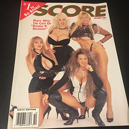 Score Busty Adult Magazine October 1993 Party With The Cast of Double D -