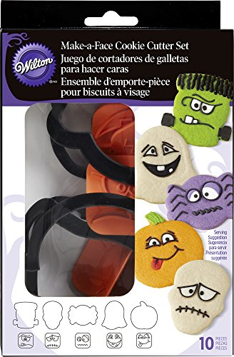 056a5eaa089 Wilton 2304-1225 Halloween Make-A-Face Cookie Cutter and Stamp ...